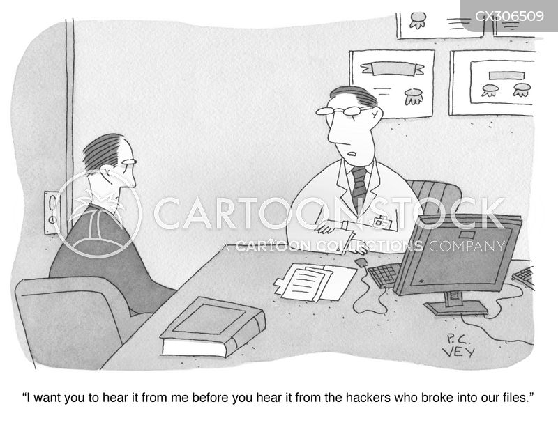 stolen medical records cartoon