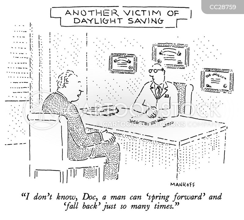 daylight saving time cartoon