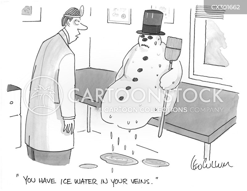 ice water cartoon