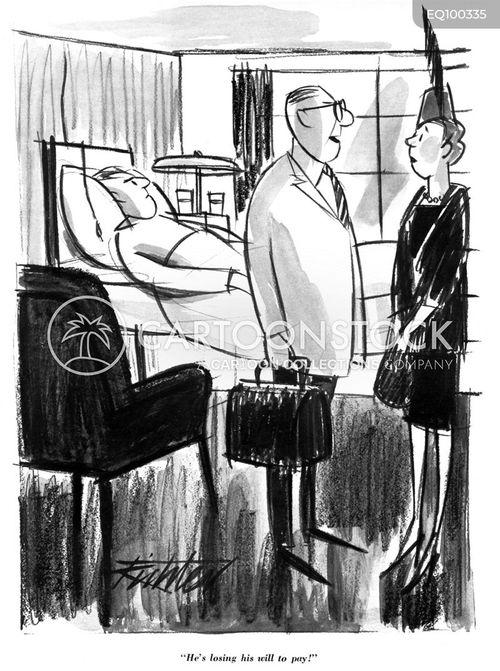 in debt cartoon