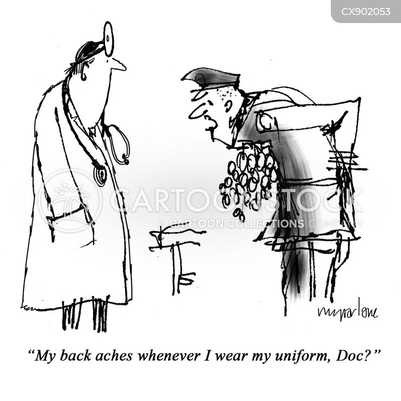back ache cartoon