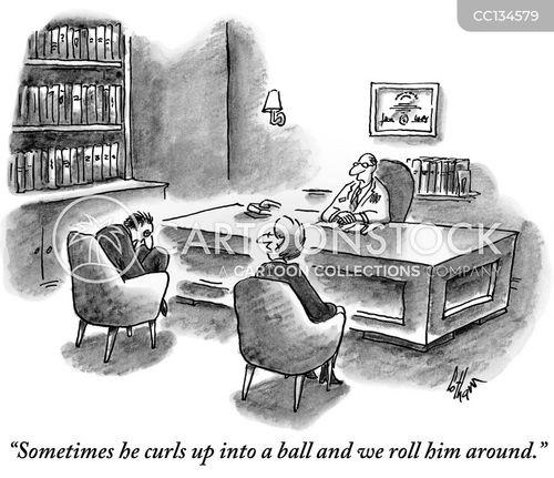 anxiety disorder cartoon