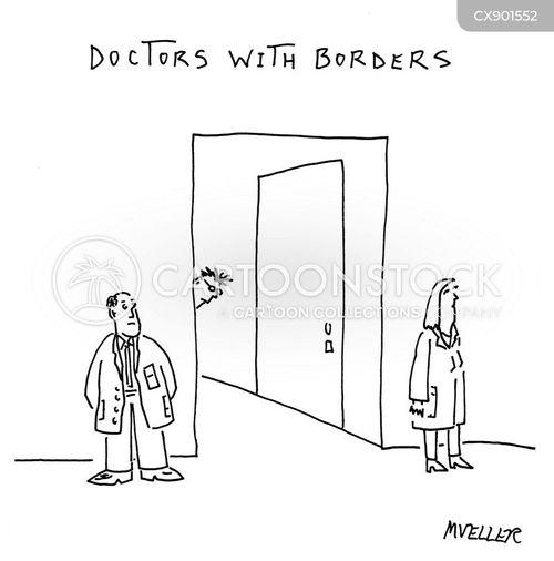 border cartoon