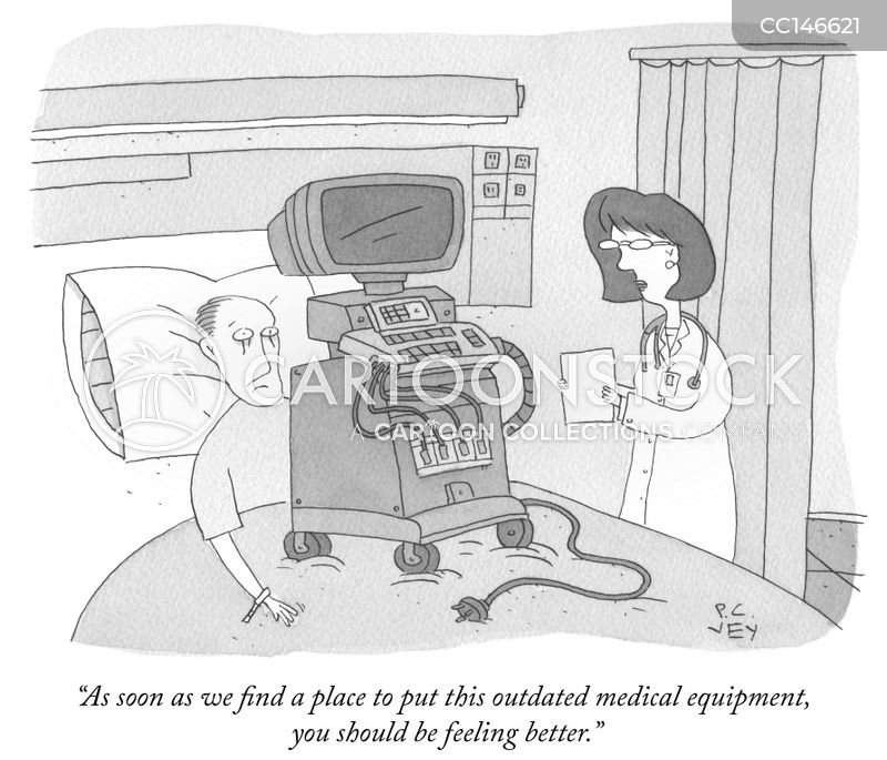hospital bed cartoon