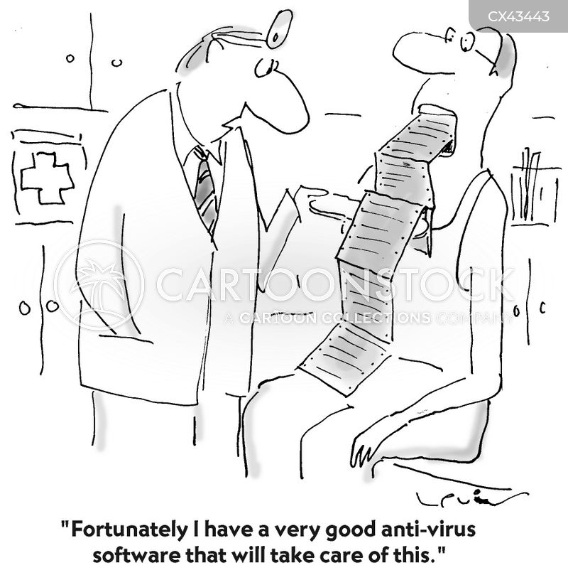 anti-viral cartoon