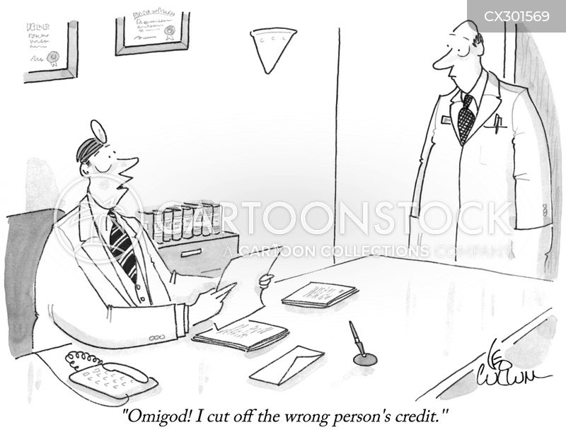 bad credit cartoon