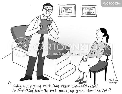 test result cartoon