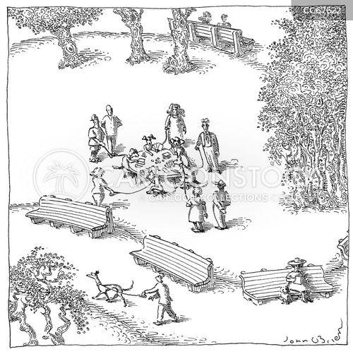 dog walkers cartoon