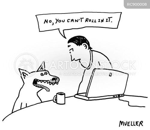 dog habit cartoon