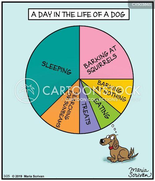 happy dogs cartoon