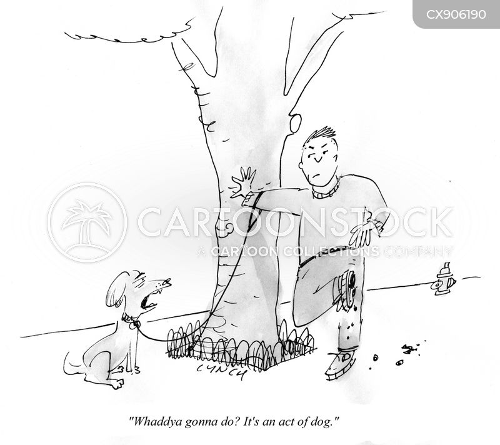 dog poops cartoon