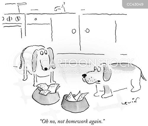 ate homework cartoon