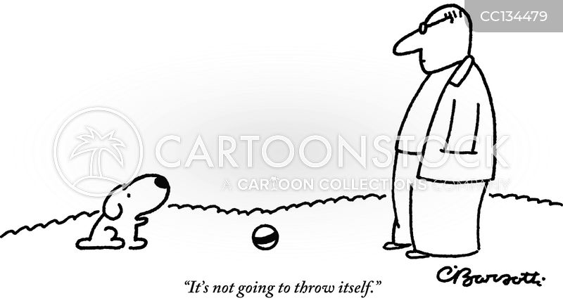 throwing cartoon