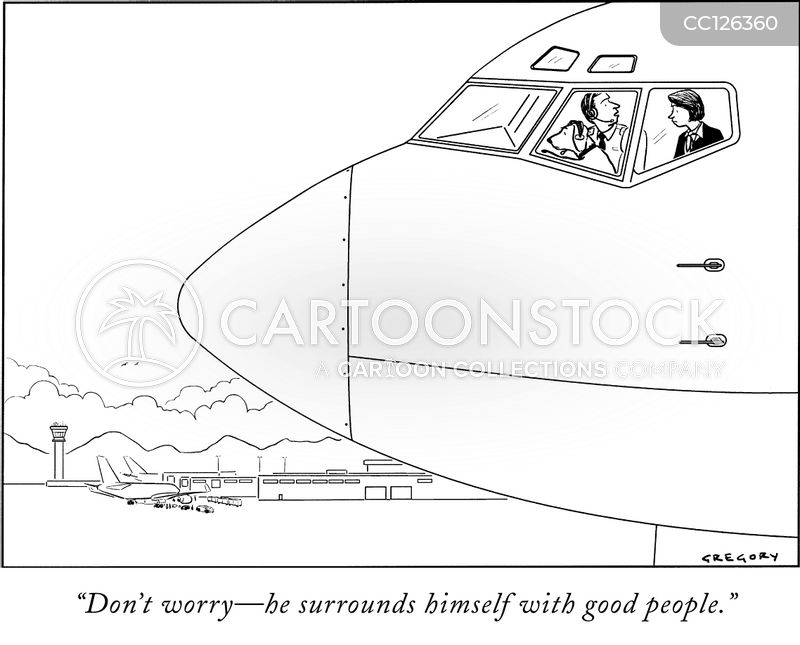 nervous passenger cartoon