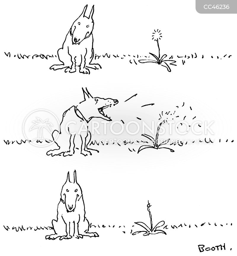 barking dog cartoon