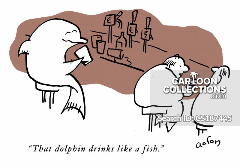 drink like a fish cartoon