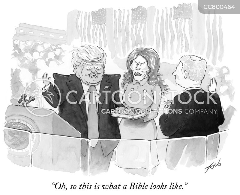 inauguration ceremony cartoon
