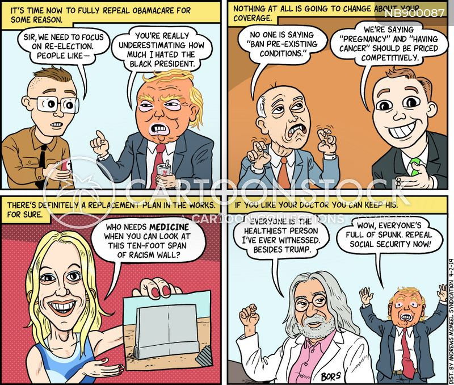 racism wall cartoon