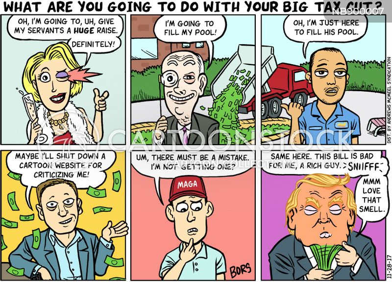 tax cut cartoon