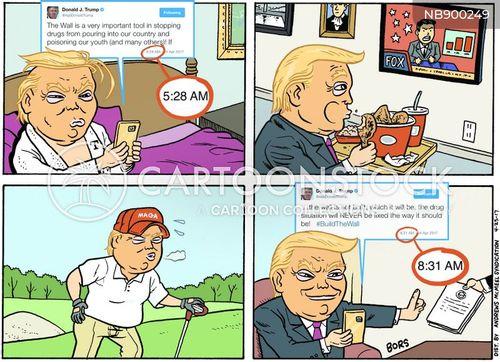 tweeting cartoon