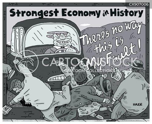 economic crash cartoon