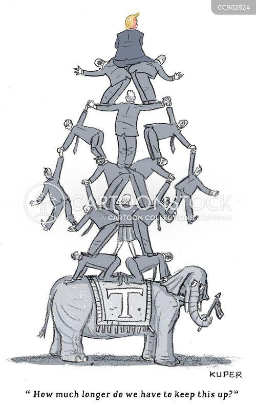 human pyramid cartoon