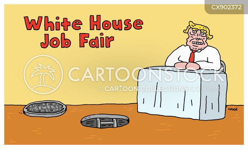 job fair cartoon