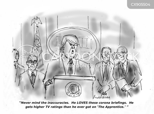 corona briefing cartoon