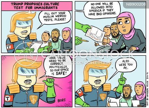 trump controversy cartoon