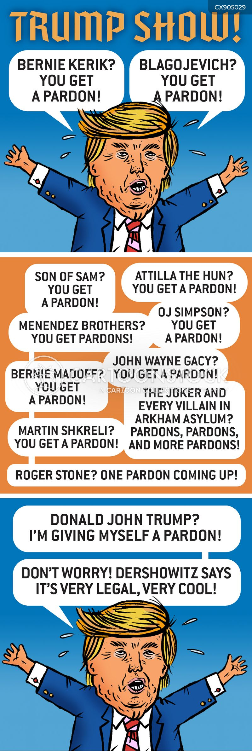 presidential pardons cartoon