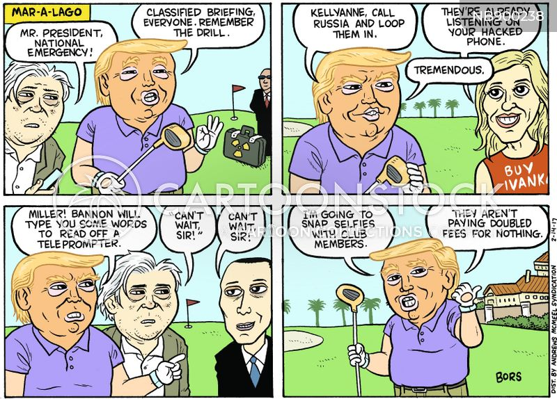 trumps golf course cartoon