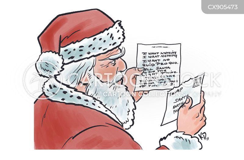 letter to santa cartoon