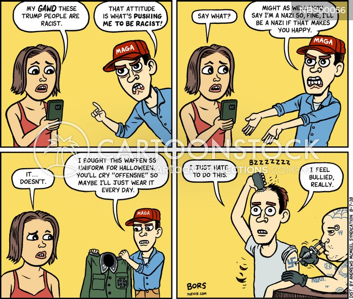 false victimhood cartoon
