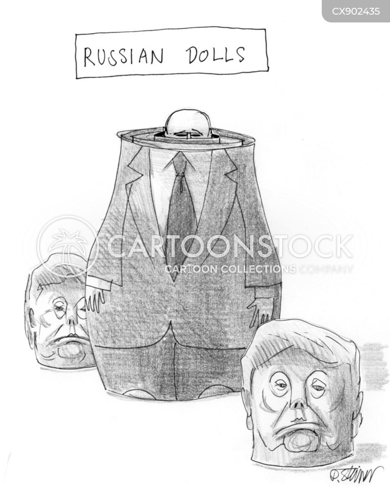 russian electoral interference cartoon