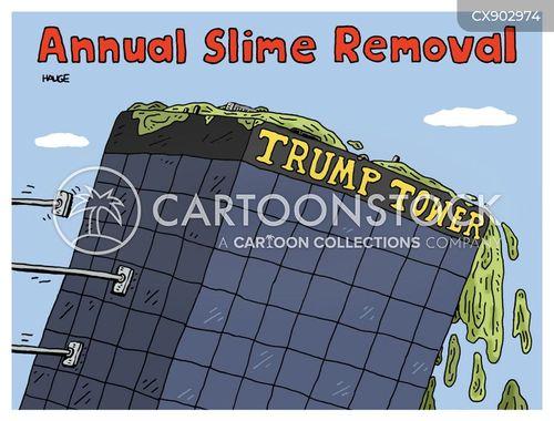 trump tower cartoon