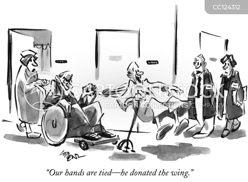 charitable donation cartoon