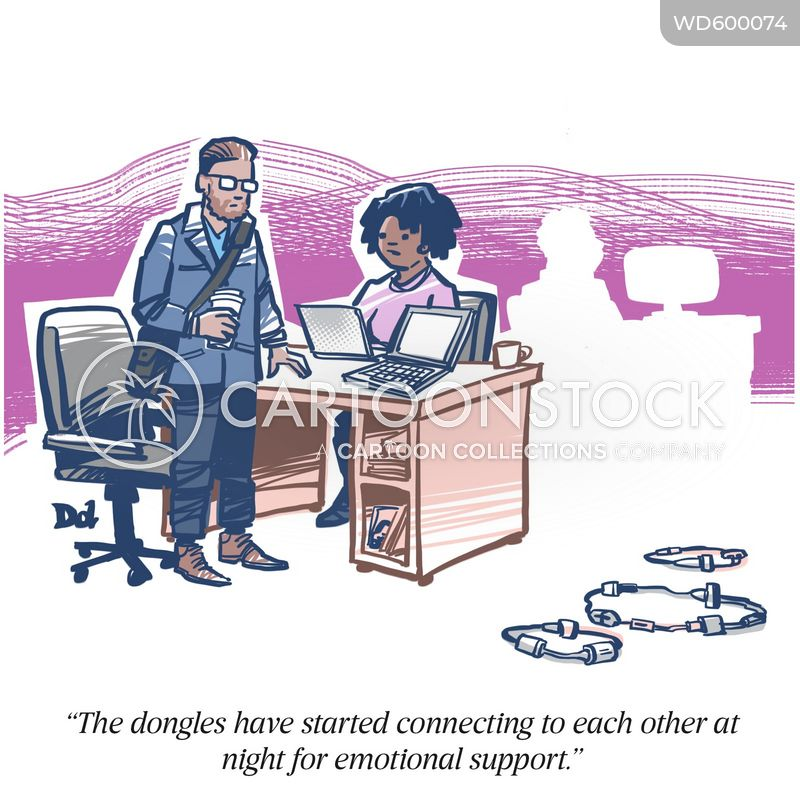 dongle cartoon