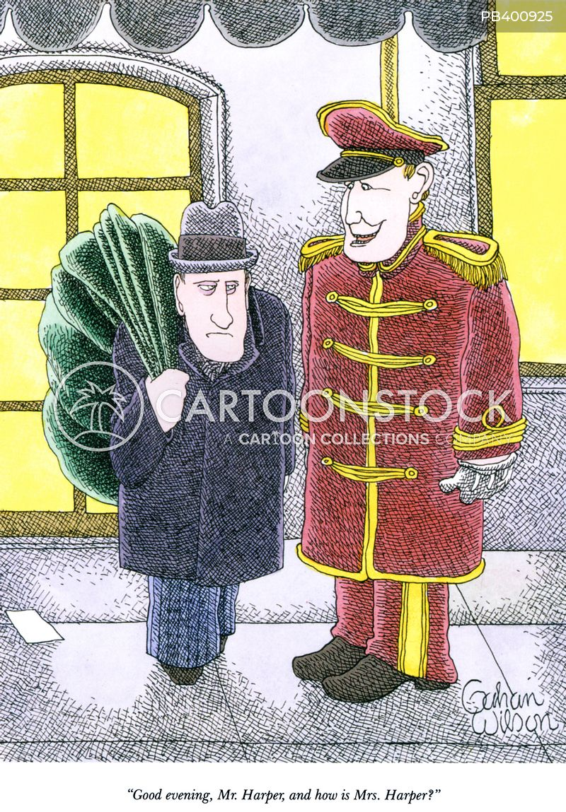 doorman cartoon