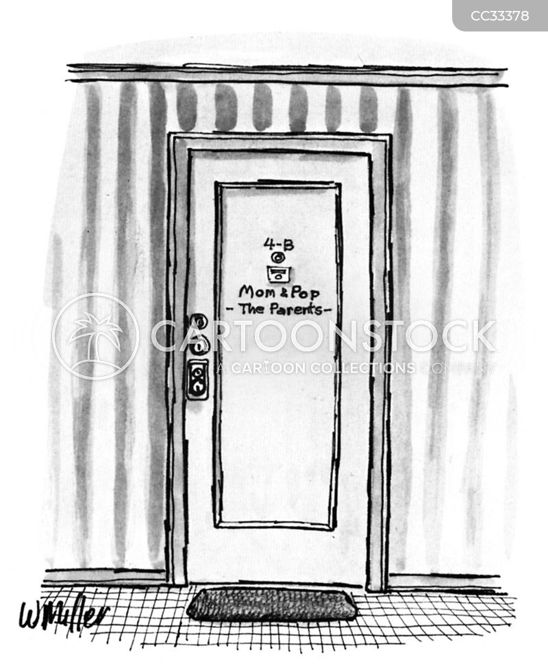 front doors cartoon