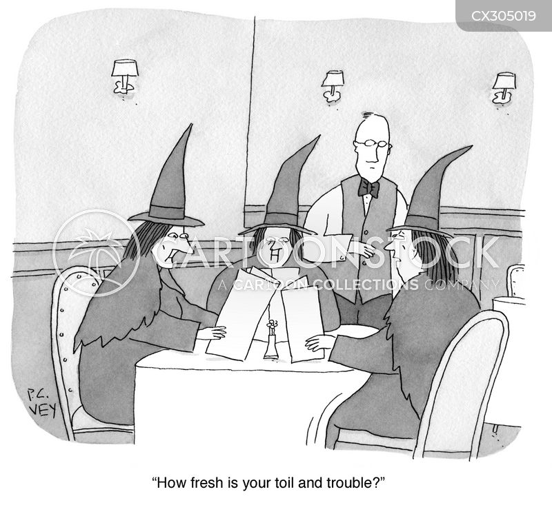 3 witches cartoon