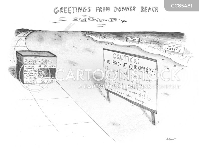 downer beach cartoon
