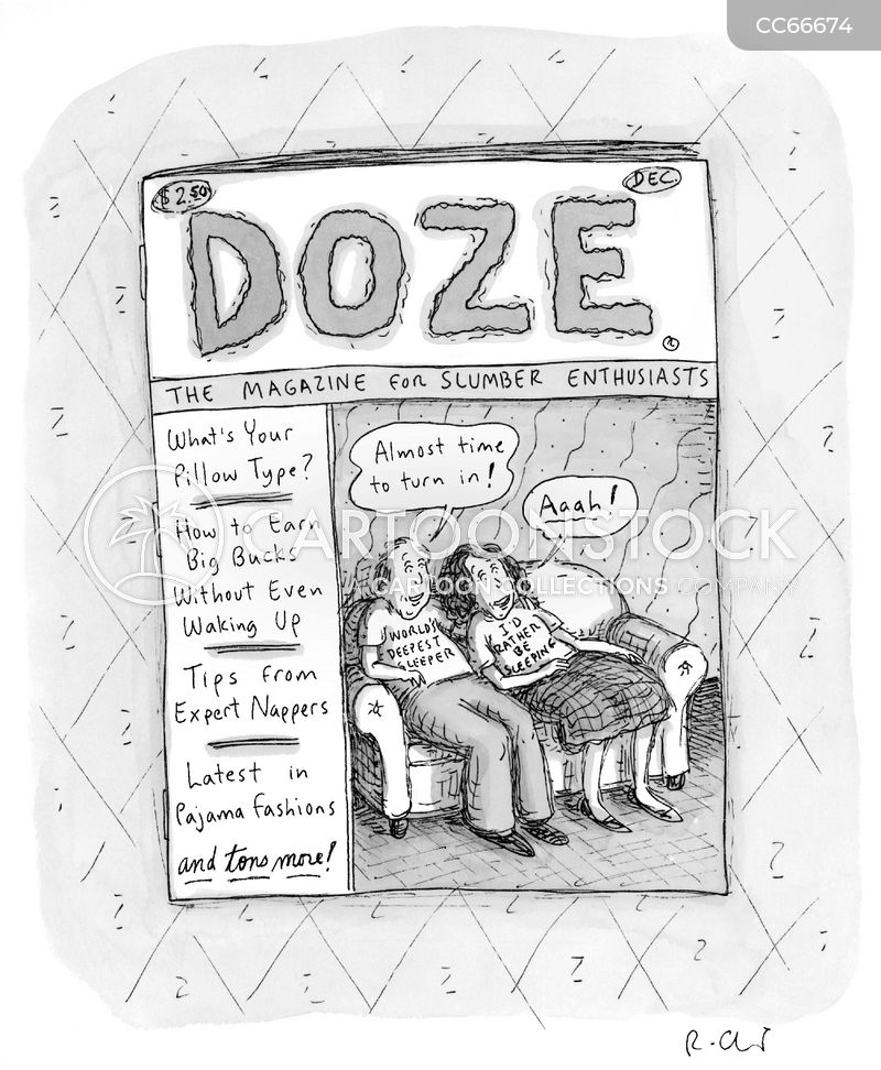 dozing cartoon