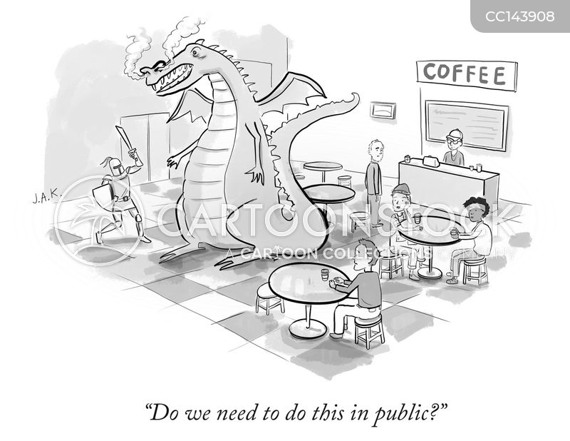 in public cartoon