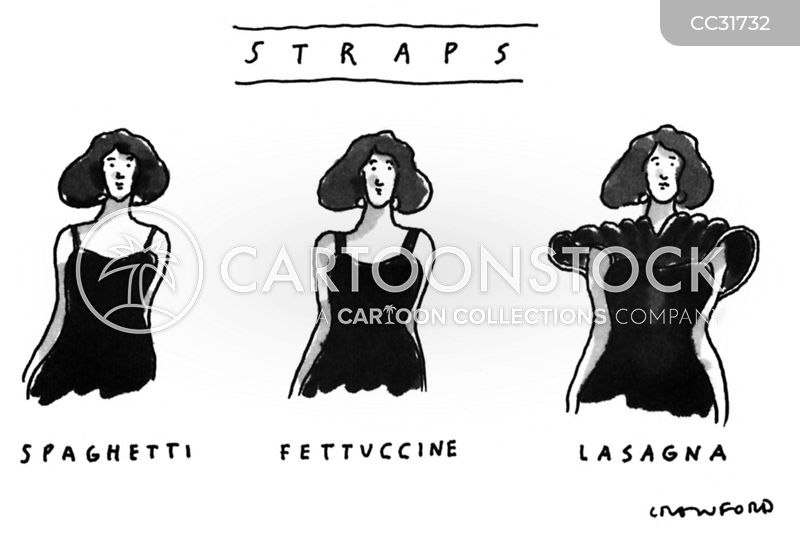 dress straps cartoon