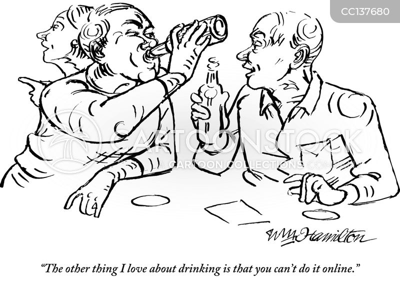 heavy drinking cartoon