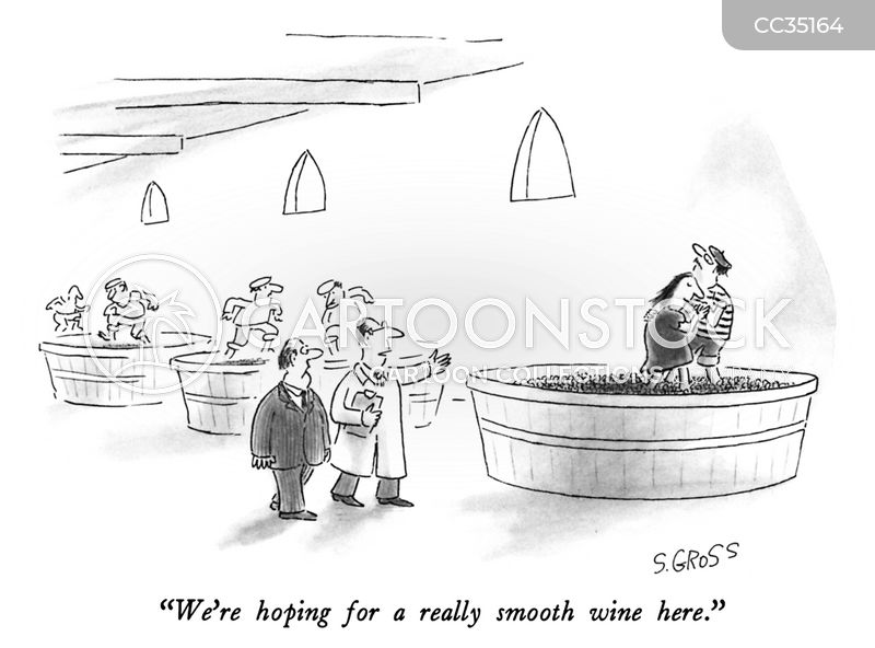 grape-stomping cartoon
