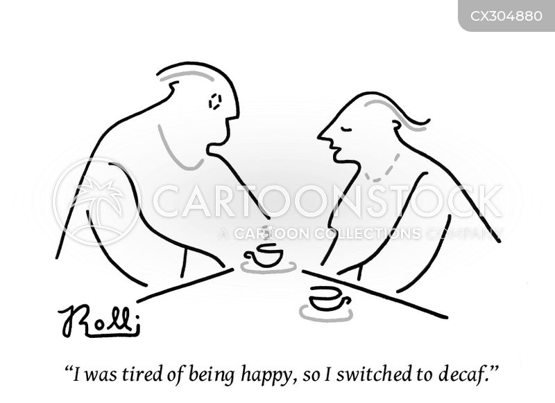 morning coffees cartoon
