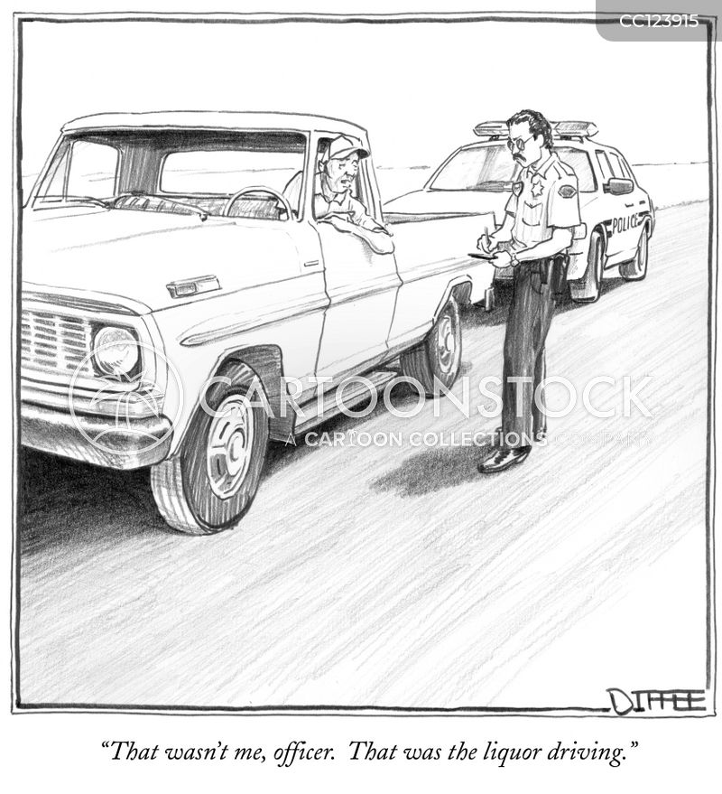 Driving Tickets cartoon