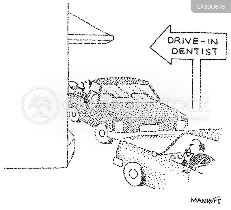 drive ins cartoon