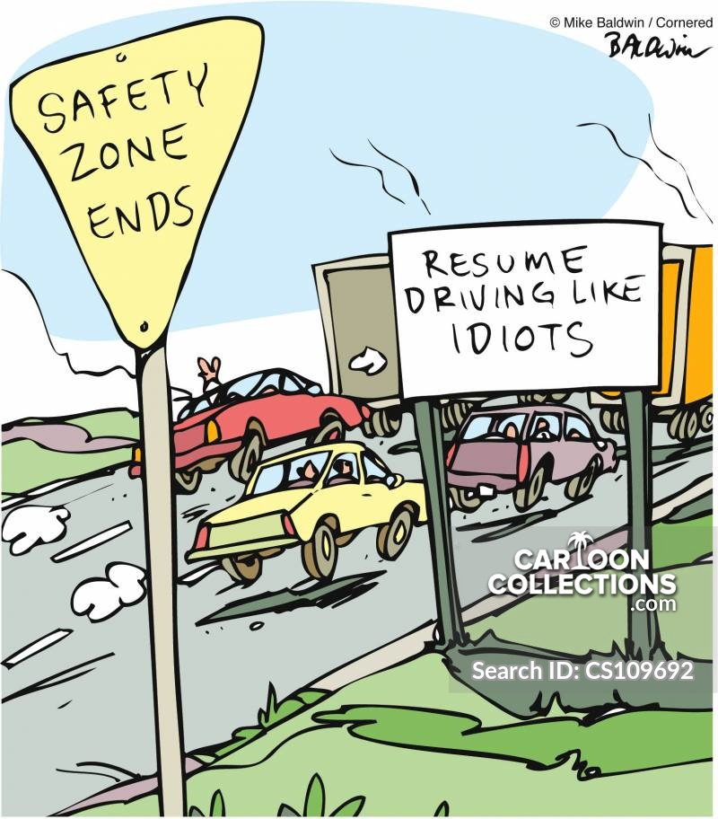 Driving Habits cartoon